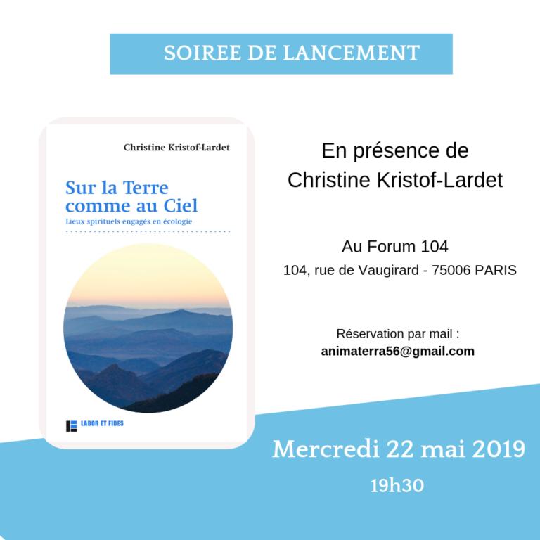 Affiche lancement du livre