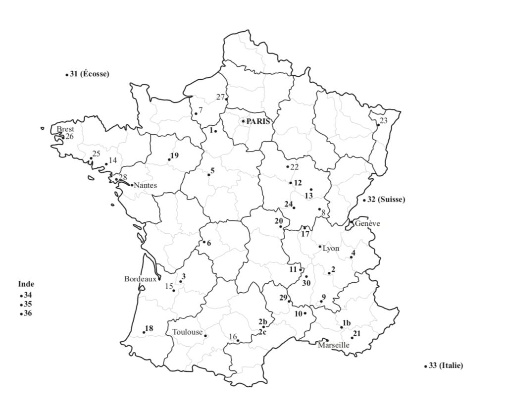 Carte des lieux écospirituels