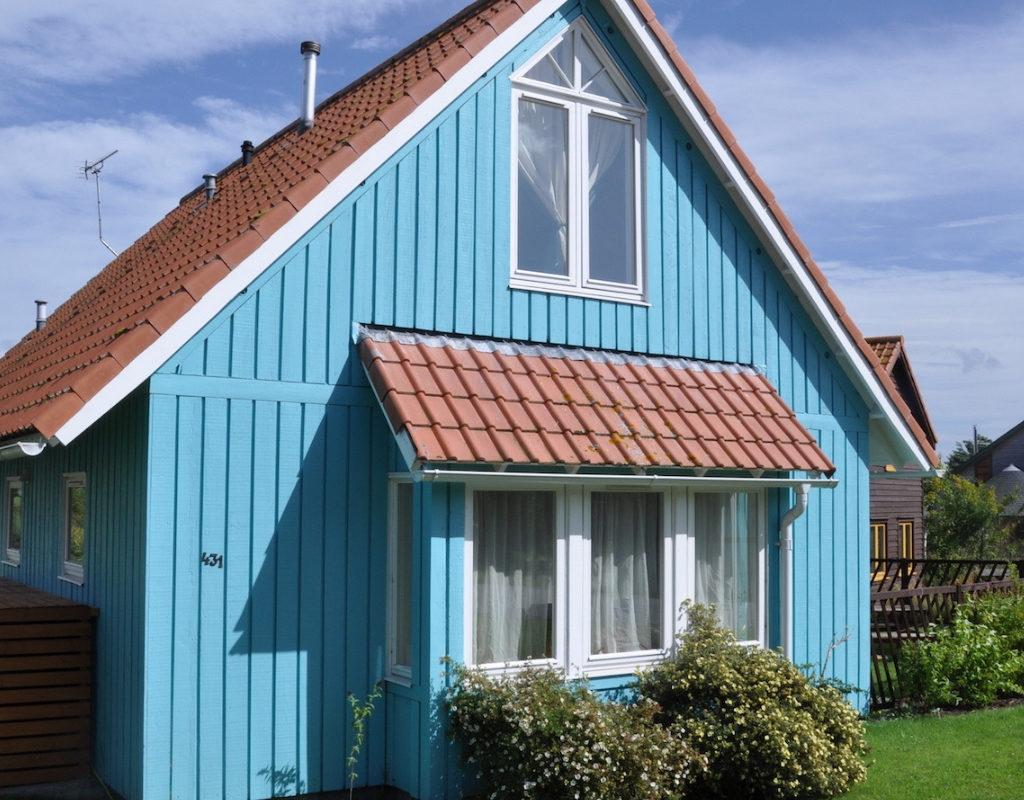 vignette maison bleue Findhorn